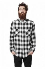 Camasi in carouri barbati negru-alb 2XL