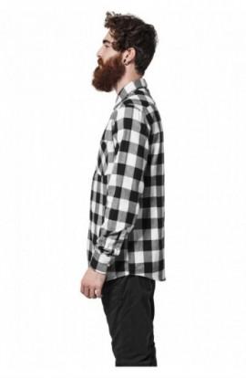 Camasi in carouri barbati negru-alb S