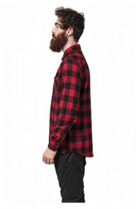 Camasi in carouri barbati negru-rosu XL