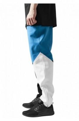 Pantalon trening zig zag negru-turcoaz-alb XS