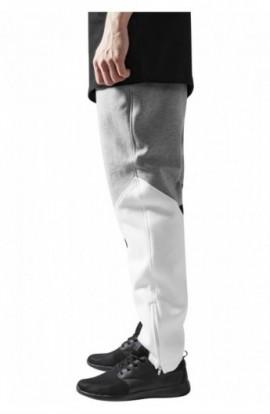 Pantalon trening zig zag negru-gri-alb L