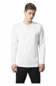 Bluza cu maneca lunga basic alb XL