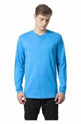 Bluza cu maneca lunga basic turcoaz S