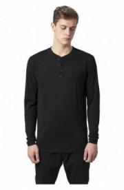 Bluza cu maneca lunga basic negru 2XL