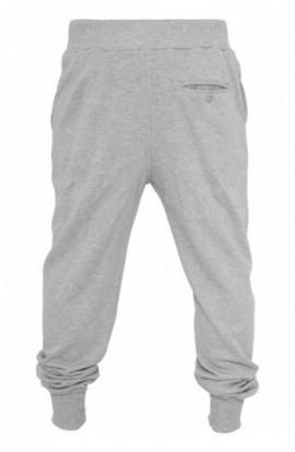 Pantaloni trening largi gri deschis M