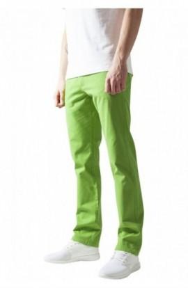 Pantaloni urban casual verde lime 34