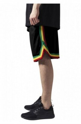 Pantalon hip hop cu dungi negru-rasta L