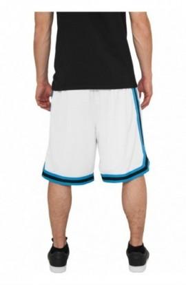 Pantalon hip hop cu dungi alb-turcoaz-negru 2XL
