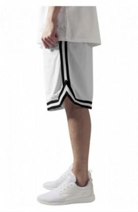 Pantalon hip hop cu dungi alb-negru-alb M