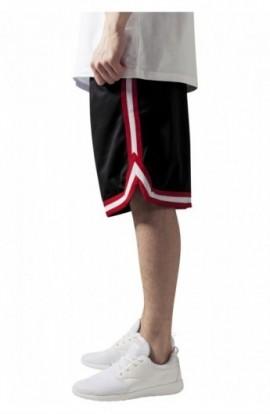 Pantalon hip hop cu dungi negru-rosu-alb S