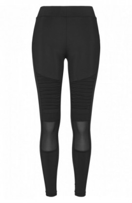 Ladies Tech Mesh Biker Leggings negru XS