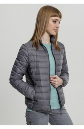 Ladies Basic Down Jacket gri inchis L