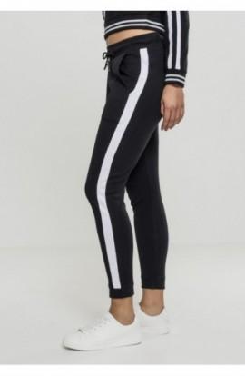 Ladies Interlock Jogpants negru-alb M