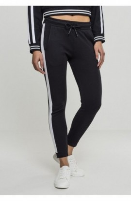 Ladies Interlock Jogpants negru-alb S