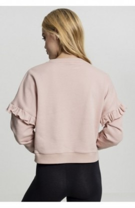 Ladies Oversize Volant Crewneck light-rose L