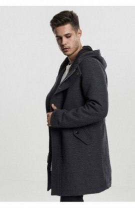 Hooded Structured Parka gri carbune L