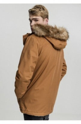 Heavy Cotton Imitation Fur Parka toffee L