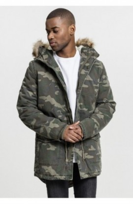 Garment Washed Camo Parka wood-camuflaj XL