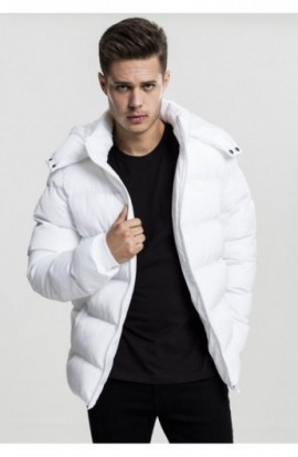 Hooded Puffer Jacket alb L