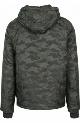 Padded Camo Pull Over Jacket oliv inchis S