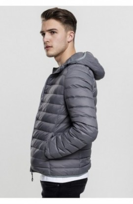 Basic Hooded Down Jacket gri inchis L