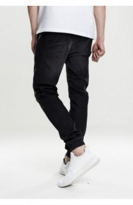 Knitted Denim Jogpants negru-washed L