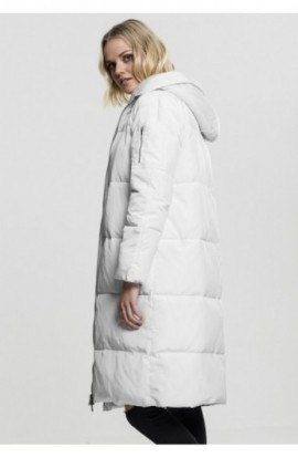Ladies Oversized Hooded Puffer Coat alb-alb murdar S