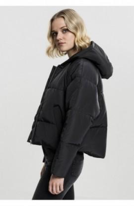 Ladies Hooded Oversized Puffer Jacket negru S