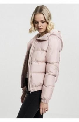 Ladies Hooded Puffer Jacket lightrose S