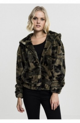 Ladies Camo Teddy Jacket oliv-camuflaj S