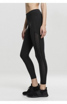 Ladies Tech Mesh Stripe Leggings negru S