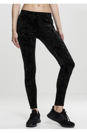 Ladies Velvet Leggings negru S