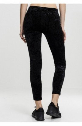 Ladies Velvet Leggings negru S