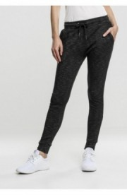 Ladies Space Dye Terry Jogpants negru-alb S