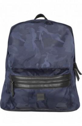 Camo Jacquard Backpack bleumarin-camuflaj
