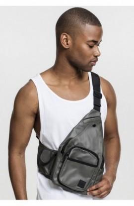 Multi Pocket Shoulder Bag oliv-negru