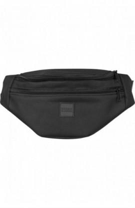 Double-Zip Shoulder Bag Negru
