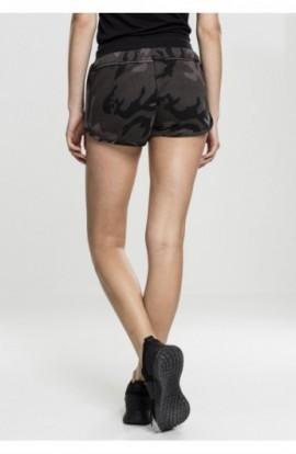Ladies Camo Hotpants inchis-camuflaj-negru S