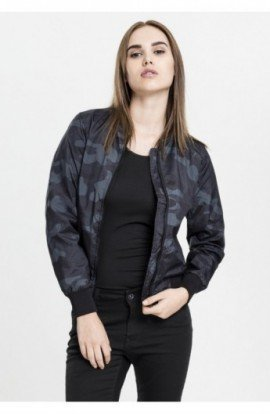 Ladies Light Bomber Jacket Camo camuflaj S