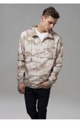 Camo Pull Over Windbreaker sandcamo XL