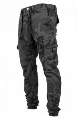 Camo Cargo Jogging Pants gri-camuflaj 30