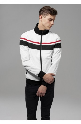 Nylon 3-Tone Jacket alb-negru-rosu L