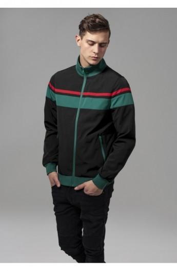 Nylon 3-Tone Jacket negru-verde-rosu M
