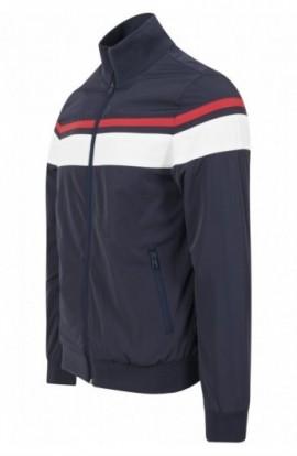 Nylon 3-Tone Jacket bleumarin-alb-rosu M