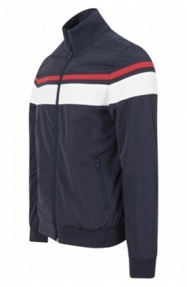 Nylon 3-Tone Jacket bleumarin-alb-rosu XL