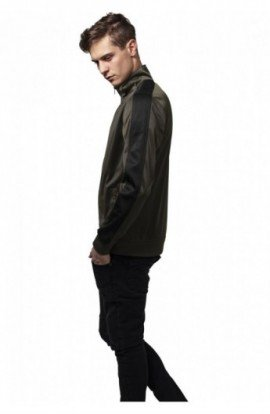 Track Jacket oliv inchis-negru XL