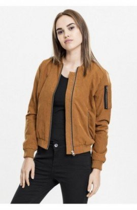 Ladies Peached Bomber Jacket toffee S