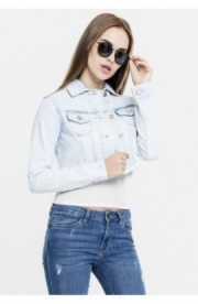 Ladies Short Denim Jacket heavy-prespalat S