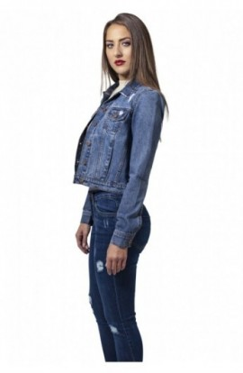 Ladies Denim Jacket ocean-albastru XL