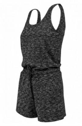 Ladies Melange Hot Jumpsuit gri inchis-gri S